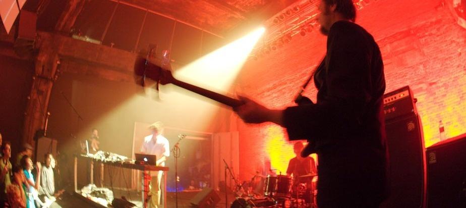 Pole & Band - Leichtmann: drums, Zeitblom: bass