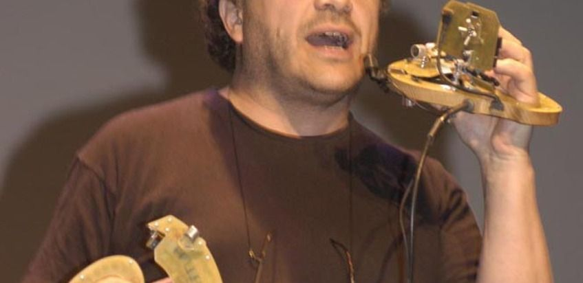 Michel Waisvisz at (2003-05-28) INAUGURATION
