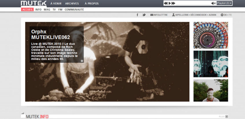 Welcome to the brand new MUTEK website!