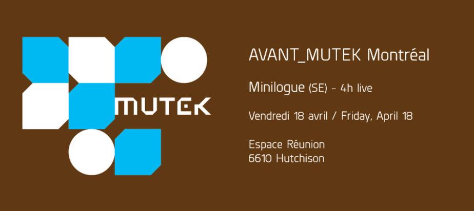 MUTEK presents AVANT_MUTEK Montréal