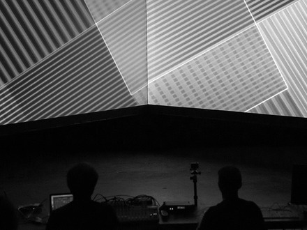 Matthew Biederman & Pierce Warnecke présentent Perspection (au carré) at (2016-06-03) A/VISIONS 1