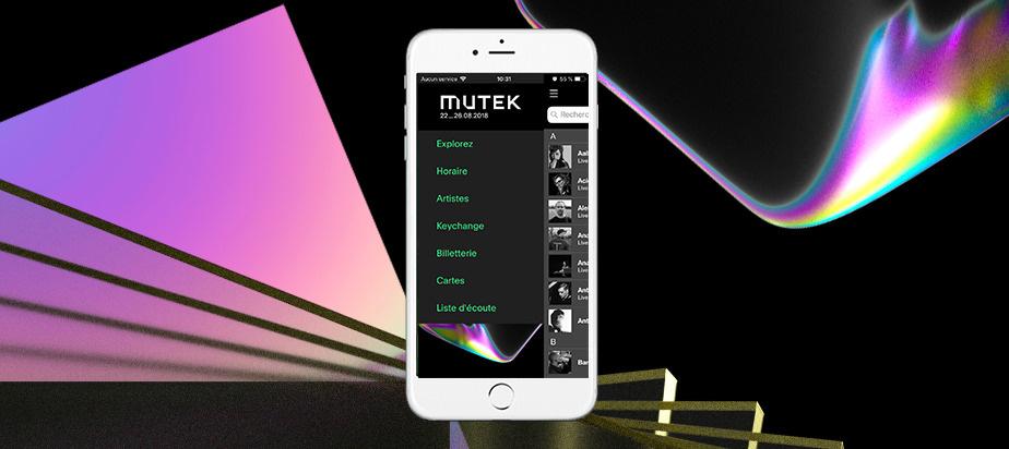 Téléchargez l'application mobile de MUTEK Montréal 2018