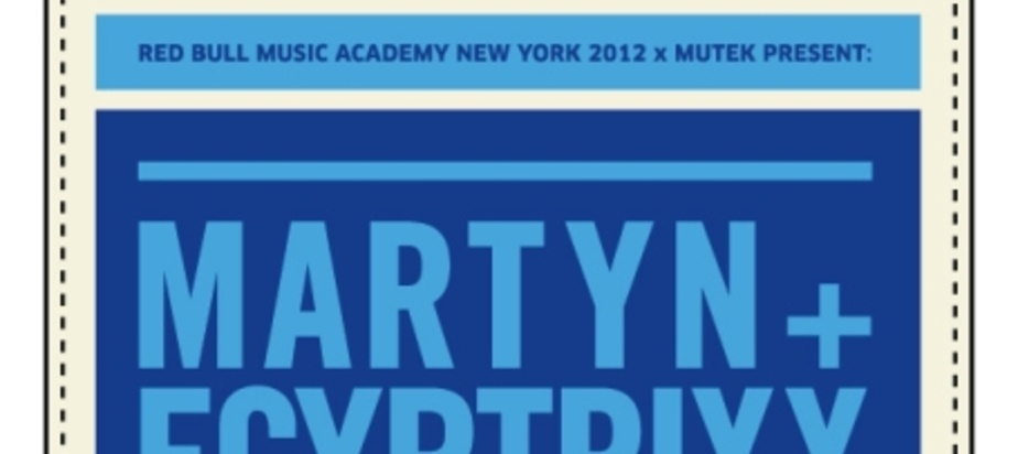 (2012-02-29) Red Bull Music Academy New York 2012 & MUTEK Tour Canada