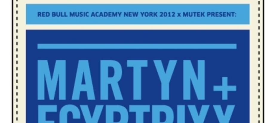 (2012-02-29) Red Bull Music Academy New York 2012 et tournée avant MUTEK au Canada